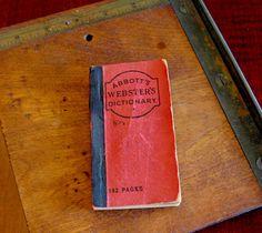 Rare Antique Abbott's Webster's Dictionary from by RedDressHanger, $10.00
