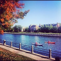 Kayaking on the Rideau Canal, downtown Ottawa. For more information on sports and leisure in Ottawa visit http://www.ottawatourism.ca/en/visitors/what-to-do/sports-and-leisure