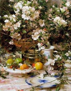 ❀ Blooming Brushwork ❀ - garden and still life flower paintings - Richard Schmid…
