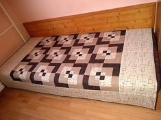 LubkaPatchwork / Prehoz na posteľ Patchwork Bed, Furniture, Home Decor, Scrappy Quilts, Decoration Home, Stream Bed, Room Decor, Home Furnishings, Beds