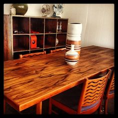 Check out this gorgeous blackbean table. One of our treasured restoration projects.
