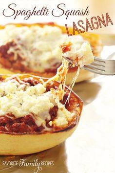 Spaghetti Squash Lasagna and more spaghetti squash recipes