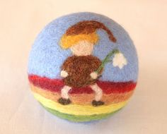 """Wool Felted Ball for children """"Rainbow"""" / Waldorf toy. 33.00, via Etsy."""