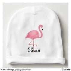 Rosa Flamingo Babymütze | Zazzle
