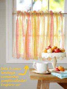 Uma óptima alternativa às cortinas de fitas plásticas para as portas!  DECORACAO-CORTINA