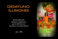 Desayuno ilusiones Versión doble del desayuno original para que lo disfrutes con tu pareja o con quien quieras!!            pvp: 55€