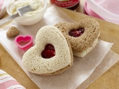 Sweetheart Finger Sandwiches These quick jam-and-cream cheese sandwiches make a sweet afterschool snack. And the best part? Your kids can do everything themselves. (Even clean up!) Get the recipe.