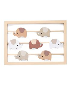 Look at this #zulilyfind! Oatmeal Cookie Frame - Set of Two by Lambs & Ivy #zulilyfinds