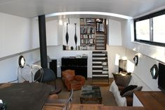 Living Room view from kitchen - Stylish Paris Houseboat -  - rentals