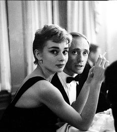 Audrey Hepburn and Mel Ferrer photographed by Milton H. Greene, 1954.