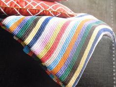 stripes blanket.