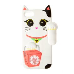 Katy Perry Light Up White Waving Cat Cover for iPhone 5, 5s and 5c | Claire's