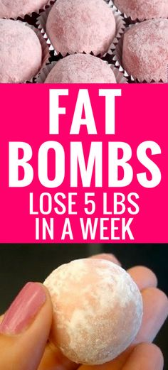 Dr. Oz's Fat Bomb Recipes will cut your cravings to help you lose weight and stick to your diet. The Strawberry Cheesecake Fat Bomb are beyond delicious!
