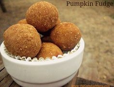 Pumpkin Fudge (Dairy/Gluten/egg free!) Has cinnamon & coconut butter so it's super healthy!  Sooo have to make this for myself - without the nutmeg for me, though. Click this pin http://pinterest.com/pin/301741243754144573/  for an easy how-to on making the necessary coconut butter for this pumpkin fudge recipe.