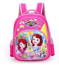 New Cartoon Sofia the First Pattern Backpack Children Kid School Bag Girls  Bags Nylon Backpacks Kids SchoolBags 537e2c1c08