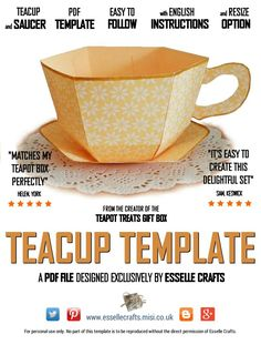 Esselle Crafts: Teacup Template                                                                                                                                                      More