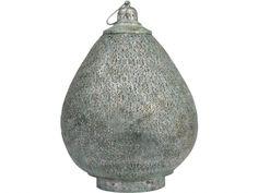 filigree metal lantern   oval Moorish lantern