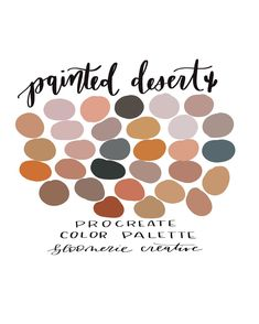 Excited to share this item from my shop: Painted Desert / Autumn / Fall / Procreate color palette / Procreate swatches Color Palette For Home, Palette Art, Neutral Colour Palette, Neutral Colors, Warm Colors, Autumn Color Palette, Paint Color Palettes, Colours, Pantone