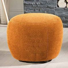 Large Modern Italian Footstool / Foot Stool / Ottoman orange Boss D70