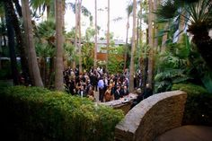 The North Garden patio, bar, and private entertaining space at the Hollywood Roosevelt in Los Angeles