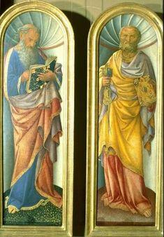 Santi Pietro e San Giovanni Evangelista.. 1430. 85x48. Tempera su tavola. Gemäldegalerie Berlin