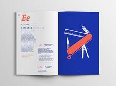 """L' """"Abécédaire des rencontres Métropolitaines"""" est un ouvrage réalisé pour Grenoble-Alpes Métropole, qui souhaitait synthétiser, sous forme d'un abécédaire, les échanges issus des 4 Rencontres Métropolitaines qu'ils avaient organisé entre 2012 et 2013. Nous avons mis l'accent sur le rendu moderne du document afin de maintenir le lecteur en haleine. www.la-mine.com #graphic #design #graphisme #édition #editorial #catalog #brochure #pantone #typographie #typography #print #city #grid"""