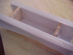 Make Your Own Mitre Box Soap Mold: Lining the mold