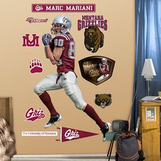 Marc Mariani fat head to decorate any room in the house! Go Griz!