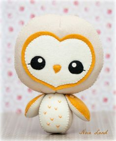 PDF Barn owl  Plush Doll Pattern  Softie Pattern Soft by Noialand