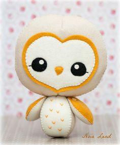 PDF Barn owl  Plush Doll Pattern  Softie Pattern Soft by Noialand