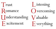 Values of a relationship