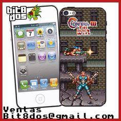 Case Contra III que salió en la consola Super Nintendo Snes #pixelart Te elaboramos cualquier diseño de videojuegos. Más información en bit8dos@gmail.com