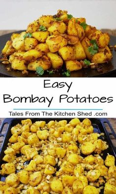 Easy Bombay Potatoes - the best ever Indian Spiced Roasties. The perfect partner. Easy Bombay Potatoes - the best ever Indian Spiced Roasties. The perfect partner for any curry recipe or to spice up your Sunday Roast ! Veg Recipes, Curry Recipes, Asian Recipes, Cooking Recipes, Healthy Recipes, Indian Food Recipes Easy, Indian Vegetable Recipes, Recipies, Indian Potato Recipes