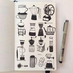 Coffee, entry to #IFDrawAWeek #IFDrawAWeek12 My best friend every morning #doodle #drawing #linedrawing #coffee #sakuraofamerica #micron #moleskine #sketchbook #creativebug #makeartthatsells