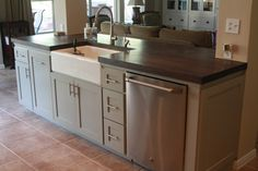 Kitchen Island With Sink And Dishwasher Plans