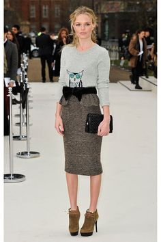 Kate Bosworth at Burberry Prorsum show