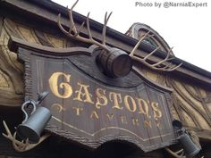 "Gaston's Tavern - Home of ""LaFou's Brew"" and a Quick-Service restaurant in the new Fantasyland at the Magic Kingdom.  (Disney World)"