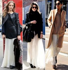maxi skirt and shoes in winter 3
