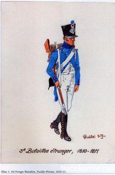 3° Bataillon étrangere, 1810-11 - régiments étrangères de la Grande Armée