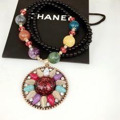 Bohemian Glass Pendant Wholesale Long Chain Sweater Factory Direct Necklace