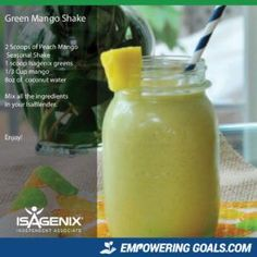 Healthy Recipes featuring Isagenix Isalean shake | superfood nutrition High Protein Smoothies, Protein Shake Recipes, Healthy Breakfast Smoothies, High Protein Snacks, Weight Loss Smoothies, Fruit Smoothies, Smoothie Recipes, Healthy Recipes, Healthy Meals