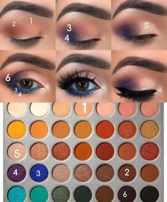 Makeup look using the Morphe Jaclyn Hill Eyeshadow Palette. Makeup look using the Morphe Jaclyn Hill Eyeshadow Palette. Jaclyn Hill Palette, Jaclyn Hill Eyeshadow Palette, Fall Eyeshadow, Morphe Palette, Orange Eyeshadow, Daytime Eyeshadow, Jacklyn Hill Palette Looks, Smokey Eyeliner, Makeup Eye Looks