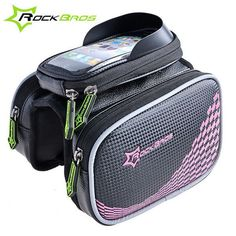 ROCKBROS Double IPouch Bike Bags Folding MTB Road Bicycle Bags Pannier Basket Touchscreen Cycling Saddle Bag Bicycle Accessories