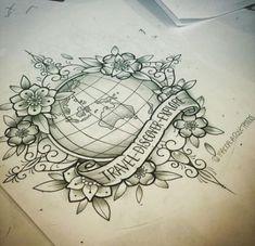 Big tattoo, tattoo you, mandala compass tattoo, compass drawing, traveler t Globe Tattoos, Map Tattoos, Bild Tattoos, Body Art Tattoos, Ankle Tattoos, Arrow Tattoos, Tatoos, One Word Tattoos, Ankle Tattoo Small
