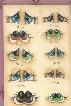 Painted Rocks – More than 300 Picture Ideas – Arts And Crafts – All DIY Projects Stone Painting, Painting & Drawing, Drawing Eyes, Figure Drawing, Rock Crafts, Arts And Crafts, Art Rupestre, Art Pierre, Eye Expressions