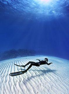 Underwater Blues, Dahab, Egypt by Jaques de Vos. Dahab, Red Sea, Egypt. www.dahabvillas.com