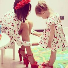 My daughter and I will have cute matching outfits sometimes! What great memories we could make!:)