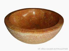 Sink Bowl Outside Hammer Color : Red Size: Ø 35 cm X H. 15 cm Ø 40 cm X H. 15 cm Ø 45 cm X H. 15 cm