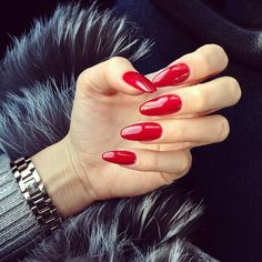 Roter NOx Hybrid Nagellack 7 ml Perfect Nails, Gorgeous Nails, Cute Nails, Pretty Nails, Classy Nails, Red Acrylic Nails, Nagel Gel, Stiletto Nails, Manicure And Pedicure