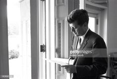 1961. Mai. By Walter CARONE. President John Fitzgerald Kennedy at the White House. Washington